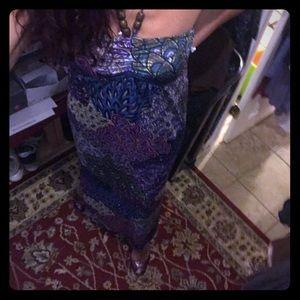 Gorgeous ladies size m peacock hip color Dress EUC